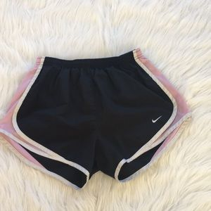 Black and Pink Nike Athletic Shorts
